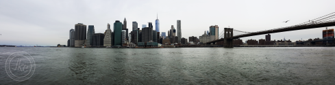 NYC harbor panorama