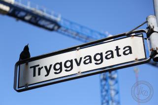 Reykjavik street sign