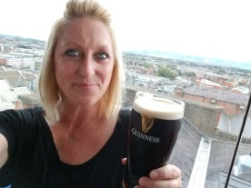 Having my first real Guinness at the factory in Dublin