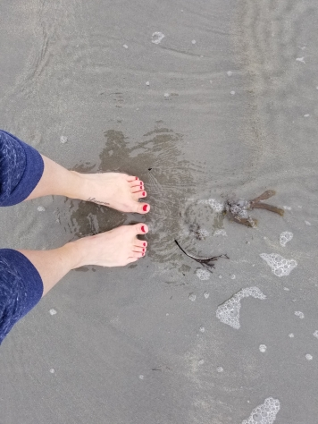Toes in the sand along the U.S. East coast