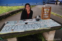 I met this sweet jewelry maker along the Road to Hana.